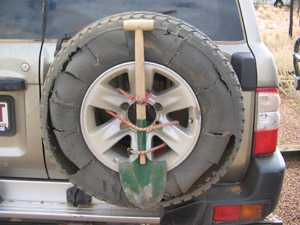wrecked tyre