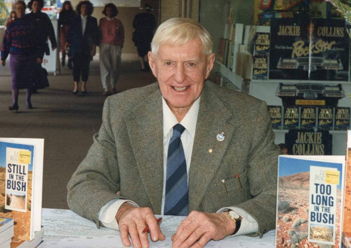 Len Beadell reading book signing Brisbane 1989