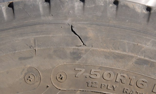 Outside of same tyre